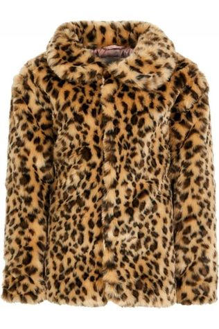 Name It Coat fmona Faux Fur brown/Assortment Camouflage