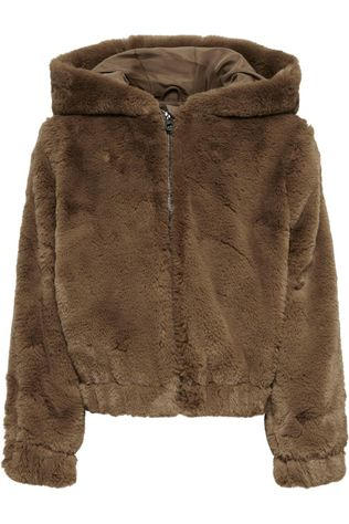 Kids Only Coat malou Faux Fur Hood Jacket Cp Otw Camel Brown