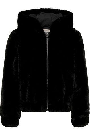 Kids Only Coat malou Faux Fur Hood Jacket Cp Otw black