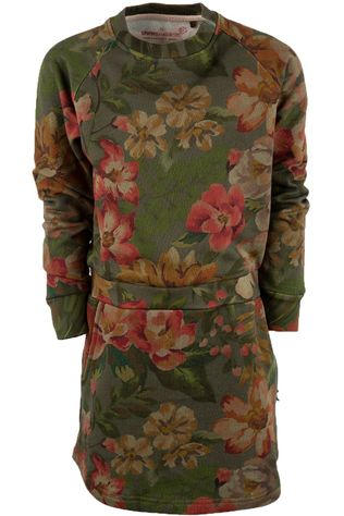 Stones and Bones Dress Jodie Floral mid khaki/Assortment Flower