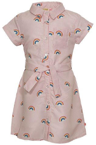 Someone Robe Bow-Sg-51-C Blanc Cassé/Rose Clair
