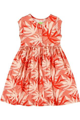 LIly Balou Kids Dress Jozefien Mid Pink/Ass. Flower