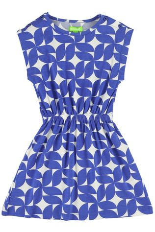 LIly Balou Kids Dress Yara Royal Blue/Patterned