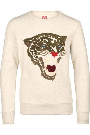 AO76 Pullover C-Neck Leopard Light Grey Marle