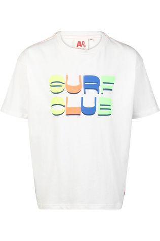 AO76 T-Shirt Oversized Club Blanc