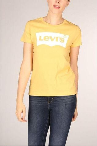 Levi's T-Shirt The Perfect Bw T2 Ochre Donkergeel
