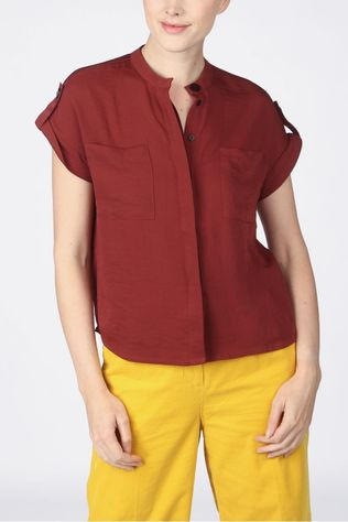 CKS Women Shirt Robertia Bordeaux / Maroon
