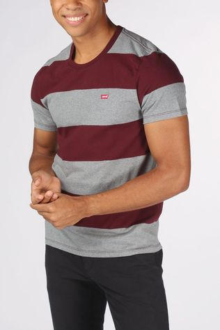 Levi's T-Shirt Ss Original Hm Tee Gris Clair Mélange/Bordeaux / Marron
