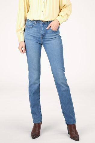 Levi's Jeans 724 High Rise Straight Mid Blue/Denim / Jeans