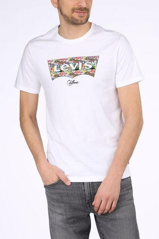 Levi's T-Shirt Housemark Graphic Blanc