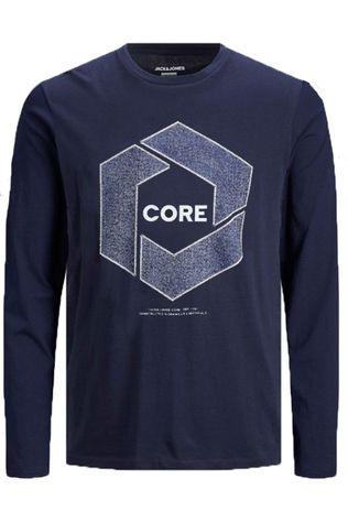 Jack & Jones T-Shirt cotube Tee  Ls Crew Neck Jr Donkerblauw