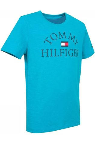 Tommy Hilfiger T-Shirt Th Essential Logo S/S blue