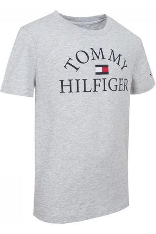 Tommy Hilfiger T-Shirt Th Essential Logo S/S Light Grey Mixture