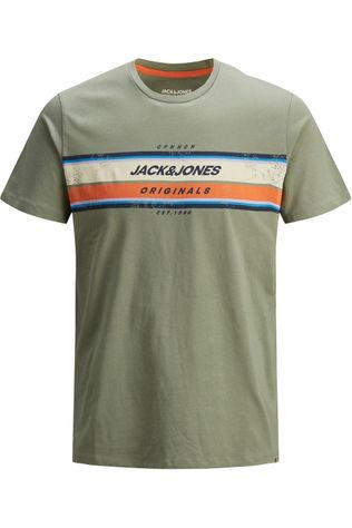 Jack & Jones T-Shirt Jortyler Tee Ss Crew Neck Jr Middenkaki