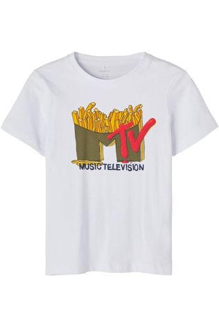 Name It T-Shirt Nkmmtv Trico Lic Blanc
