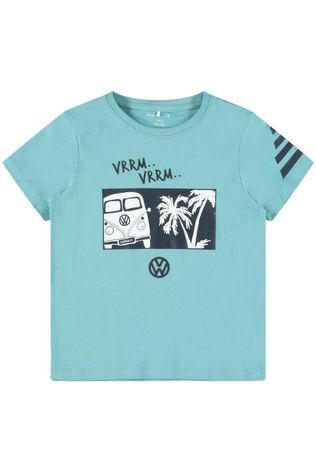 Name It T-Shirt Nkmvw Linus Lic Bleu Clair