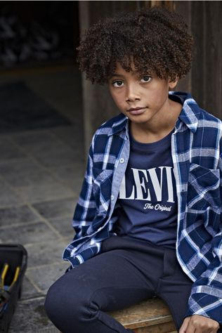 Levi's Kids T-Shirt Ss Graphic dark blue