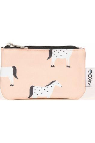 Aikoo Portefeuille Moneybag Lichtroze/Wit