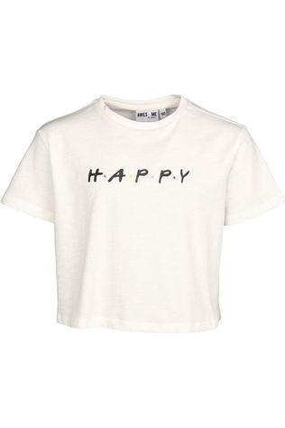 Awesome T-Shirt Friends-G-02-A Blanc Cassé