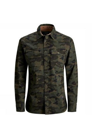 Jack & Jones Hemd Jprteo Cpo Shirt L/S Worker Junior Middenkaki/Ass. Camouflage