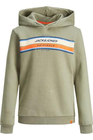 Jack & Jones Pull Jortylers Sweat Hood Noos Jr Kaki Moyen