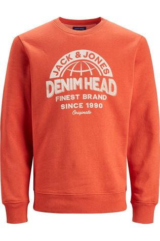 Jack & Jones Pull orbollard Sweat Crew Neck Fst Jr Orange