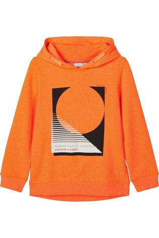Name It Pullover oatrik Ls Sweat Wh Bru orange