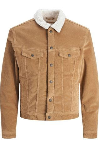 Jack & Jones Blazer ialvin Jjsherpa Corduroy Akm555 Jr Sand Brown