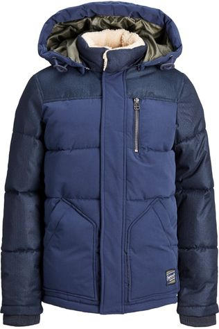 Jack & Jones Jas orheat Puffer Jacket Jr Donkerblauw