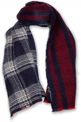 AO76 Scarf 219-2913 Bordeaux/Dark Blue