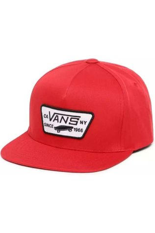Vans Cap By Full Patch Snapback red