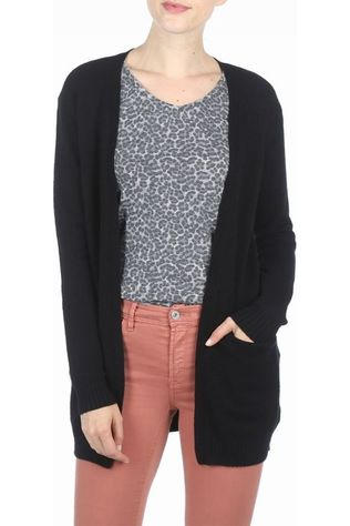Vila Cardigan Viril Ls Open Knit Noir