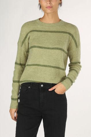 Moss Copenhagen Pullover Femme Stripe light green/dark green