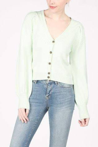 Soft Rebels Cardigan SbPeach Ls V-Neck Lichtgroen