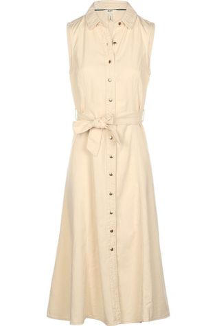 Object Dress Lucinda Long Twill Sand Brown