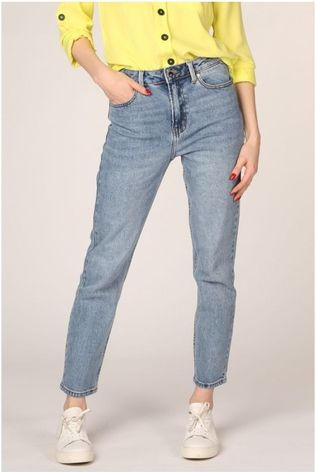 Only Jeans Onlemily Hw Straight Ankle Bleu Moyen