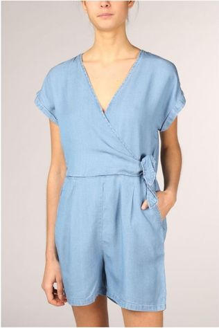 Vero Moda Jumpsuit laura Ss V-Neck Knot Ga light blue