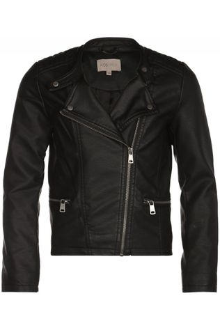 Kids Only Blazer freya Faux Leather Biker Otw Noos black