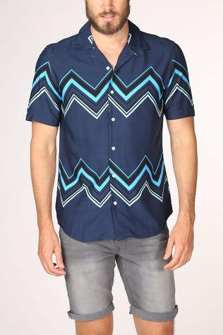 Only&Sons Shirt Onsandy dark blue/mid blue