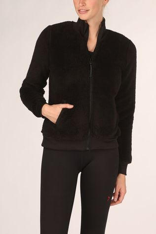 Only Play Trui Jael Fluffy Ls Zip Jacket Zwart