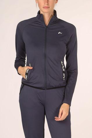 Only Play Trui Jenny Zip Sweat Lhs Donkerblauw