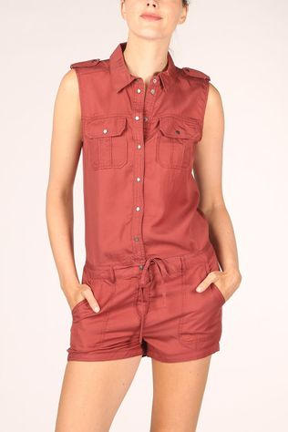 Only Combinaison Onlarizona Sl New Belt Playsuit Rouille
