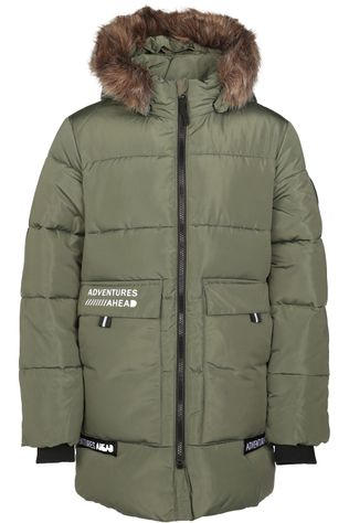 Name It Manteau mmannibal Long Puffer Kaki Moyen
