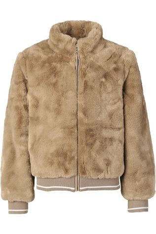 Name It Manteau fmanette Faux Fur Bomber Brun Sable
