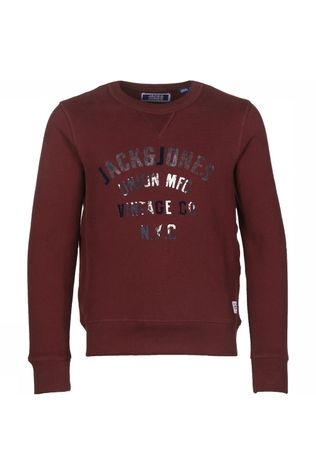 Jack & Jones T-Shirt Jjcowen Crew Neck Bordeaux / Kastanjebruin