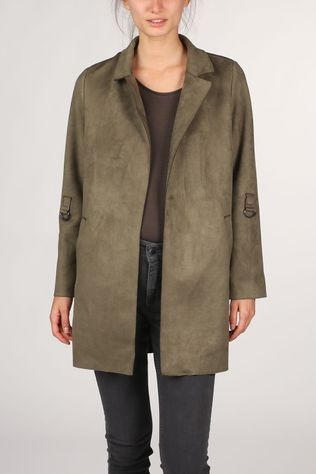 Only Coat Onljoline Faux Suede Cc Otw light khaki