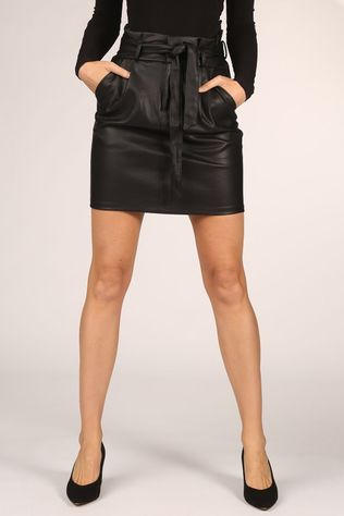Vero Moda Skirt eva Hr Paperbag Short Coated Skt Noos black