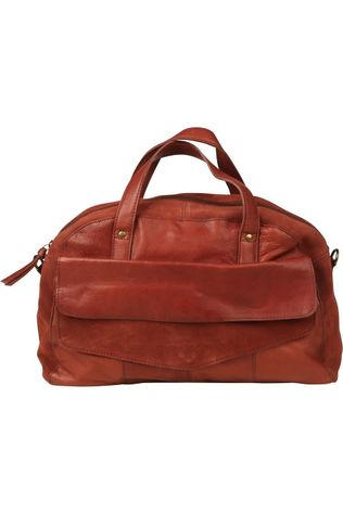 Pieces Tas svalle Leather Daily Middenbruin
