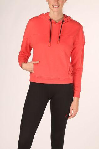 Only Play Pull Alida Ls Hood Sweat Rouge Clair