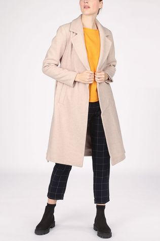 Only Manteau gina Wool Wrap Brun Clair